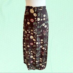 Vintage Woolrich maxi floral button down skirt